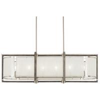 Minka-Lavery 4569-098 Tysons Gate 6 Light 42 inch Brushed Nickel with Shale Wood Island Light Ceiling Light