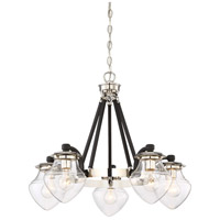The Cape 5 Light 28 inch Polished Nickel with Black Highlight Chandelier Ceiling Light