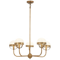 Tannehill 5 Light 26 inch Antique Noble Brass Chandelier Ceiling Light