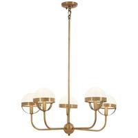 Minka-Lavery 4595-575 Tannehill 5 Light 27 inch Antique Noble Brass Chandelier Ceiling Light