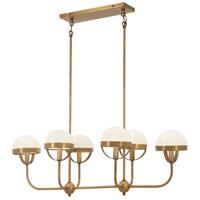 Minka-Lavery 4596-575 Tannehill 6 Light 38 inch Antique Noble Brass Island Light Ceiling Light