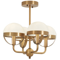 Minka-Lavery 4597-575 Tannehill 4 Light 16 inch Antique Noble Brass Semi-Flush Mount Ceiling Light