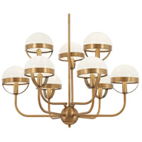 Tannehill 9 Light 30 inch Antique Noble Brass Chandelier Ceiling Light