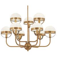 Minka-Lavery 4598-575 Tannehill 9 Light 30 inch Antique Noble Brass Chandelier Ceiling Light