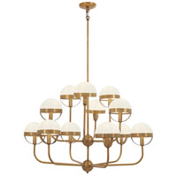 Tannehill 12 Light 36 inch Antique Noble Brass Chandelier Ceiling Light