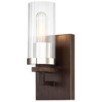 Minka-Lavery 4601-101 Maddox Roe 1 Light 12 inch Iron Ore with Gold Dust Bath Light Wall Light