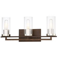 Minka-Lavery 4603-101 Maddox Roe 3 Light 21 inch Iron Ore with Gold Dust Bath Bar Wall Light