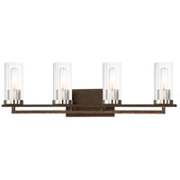 Minka-Lavery 4604-101 Maddox Roe 4 Light 30 inch Iron Ore with Gold Dust Bath Bar Wall Light