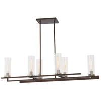 Minka-Lavery 4606-101 Maddox Roe 6 Light 45 inch Iron Ore/Gold Dust Highlight Island Light Ceiling Light