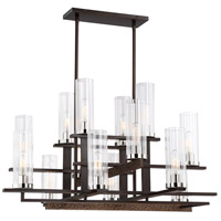 Minka-Lavery 4610-101 Maddox Roe 14 Light 38 inch Iron Ore/Gold Dust Highlight Chandelier Ceiling Light