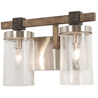Bridlewood 2 Light 14 inch Stone Grey with Brushed Nickel Bath-Bar Lite Wall Light