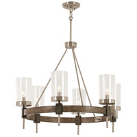 Bridlewood 6 Light 28 inch Stone Grey with Brushed Nickel Chandelier Ceiling Light