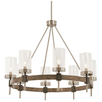 Bridlewood 8 Light 32 inch Stone Grey with Brushed Nickel Chandelier Ceiling Light