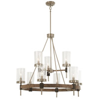 Minka-Lavery 4639-106 Bridlewood 9 Light 32 inch Stone Grey with Brushed Nickel Chandelier Ceiling Light