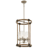 Bridlewood 4 Light 15 inch Stone Grey with Brushed Nickel Foyer Pendant Ceiling Light