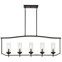 Minka-Lavery 4645-579 Elyton 5 Light 43 inch Downton Bronze with Gold Island Light Ceiling Light
