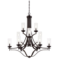 Elyton 12 Light 36 inch Downton Bronze with Gold Chandelier Ceiling Light