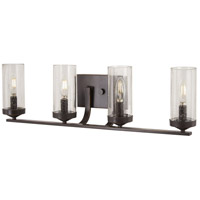 Elyton 4 Light 29 inch Downton Bronze with Gold Bath-Bar Lite Wall Light