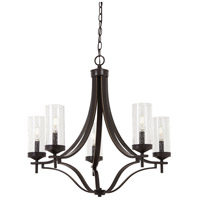 Elyton 5 Light 26 inch Downton Bronze with Gold Chandelier Ceiling Light