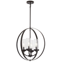 Minka-Lavery 4657-579 Elyton 4 Light 20 inch Downton Bronze with Gold Pendant Ceiling Light