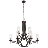 Elyton 9 Light 30 inch Downton Bronze with Gold Chandelier Ceiling Light