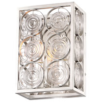 Culture Chic 2 Light 7 inch Catalina Silver Wall Sconce Wall Light