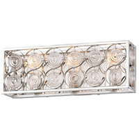 Minka-Lavery 4663-598 Culture Chic 3 Light 19 inch Catalina Silver Bath Bar Wall Light