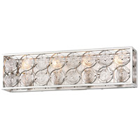 Minka-Lavery 4664-598 Culture Chic 4 Light 25 inch Catalina Silver Bath Bar Wall Light