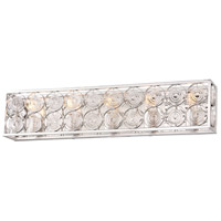 Minka-Lavery 4665-598 Culture Chic 5 Light 31 inch Catalina Silver Bath Bar Wall Light