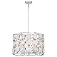 Minka-Lavery 4666-598 Culture Chic 5 Light 20 inch Catalina Silver Pendant Ceiling Light