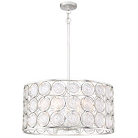 Minka-Lavery 4667-598 Culture Chic 6 Light 25 inch Catalina Silver Pendant Ceiling Light