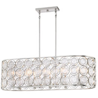 Minka-Lavery 4669-598 Culture Chic 10 Light 41 inch Catalina Silver Island Light Ceiling Light