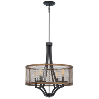 Minka-Lavery 4694-107 Marsden Commons 4 Light 19 inch Smoked Iron with Aged Gold Pendant Ceiling Light
