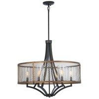 Minka-Lavery 4699-107 Marsden Commons 6 Light 27 inch Smoked Iron with Aged Gold Chandelier Ceiling Light