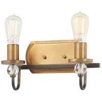Minka-Lavery 4722-113 Safra 2 Light 12 inch Harvard Court Bronze with Natural Bath Bar Wall Light