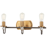 Minka-Lavery 4723-113 Safra 3 Light 21 inch Harvard Court Bronze/Natural Bath Light Wall Light