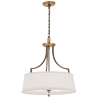 Minka-Lavery 4733-113 Safra 4 Light 20 inch Harvard Court Bronze with Natural Pendant Ceiling Light
