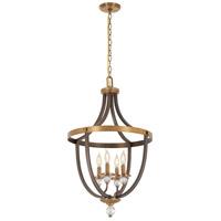 Minka-Lavery 4734-113 Safra 4 Light 19 inch Harvard Court Bronze with Natural Pendant Ceiling Light