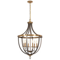 Minka-Lavery 4736-113 Safra 6 Light 23 inch Harvard Court Bronze with Natural Pendant Ceiling Light
