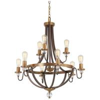 Minka-Lavery 4739-113 Safra 9 Light 31 inch Harvard Court Bronze with Natural Chandelier Ceiling Light