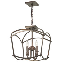 Minka-Lavery 4773-281 Jupiters Canopy 4 Light 16 inch Harvard Court Bronze Semi-Flush Mount Ceiling Light Convertible To Pendant