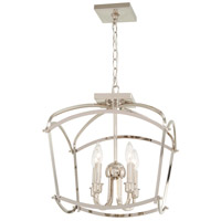 Minka-Lavery 4773-613 Jupiters Canopy 4 Light 16 inch Polished Nickel Semi-Flush Mount Ceiling Light Convertible To Pendant