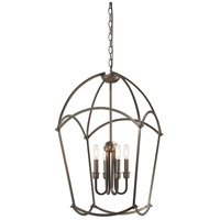 Minka-Lavery 4774-281 Jupiters Canopy 4 Light 17 inch Harvard Court Bronze Plated Pendant Ceiling Light