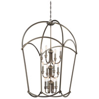 Minka-Lavery 4775-281 Jupiters Canopy 12 Light 25 inch Harvard Court Bronze Foyer Pendant Ceiling Light 3 Tier