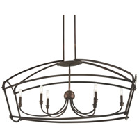 Minka-Lavery 4776-281 Jupiters Canopy 6 Light 47 inch Harvard Court Bronze Plated Island Light Ceiling Light