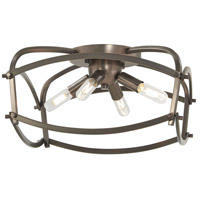 Minka-Lavery 4779-281 Jupiters Canopy 4 Light 14 inch Polished Nickel Flush Mount Ceiling Light in Harvard Court Bronze