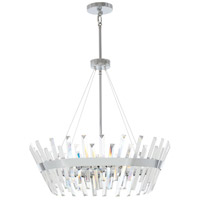 Minka-Lavery 4817-77 Echo Radiance 8 Light 25 inch Chrome Pendant Ceiling Light