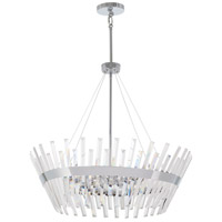 Echo Radiance 10 Light 29 inch Chrome Chandelier Ceiling Light
