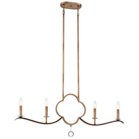 Minka-Lavery 4834-690 Ava Libertine 4 Light 38 inch Pale Gold/Distressed Bron Island Light Ceiling Light