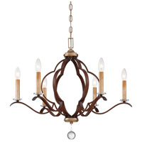 Minka-Lavery 4836-690 Ava Libertine 6 Light 27 inch Pale Gold with Distressed Bronze Chandelier Ceiling Light